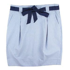 Edme & Esyllte Blue White Stripe Skirt